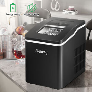 Countertop Ice Maker Electric Ice Cube Making Machine W/ Self-cleaning Function