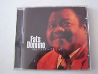 CD DE FATS DOMINO GREATEST HITS LIVE 16 TITRES , TRES BON ETAT .