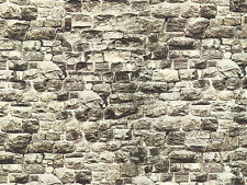 NOCH 57700 H0, TT, Plaque murale Granite, long, 64x15cm 1qm=