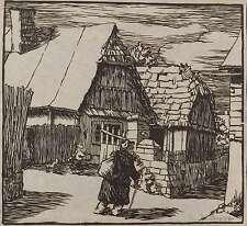 Walter Scharf-casas antiguas en el norte de Bohemia-corte de madera 1937