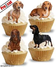 PRE-CUT DACHSHUND EDIBLE WAFER PAPER CUP CAKE TOPPERS BIRTHDAY PARTY DECORATIONS
