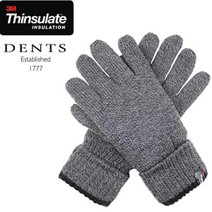 Dents Men's Full Finger 3M Thinsulate Knit Gloves w Cuff Thermal Insulation Warm