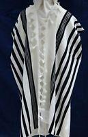 NEW,KOSHER Tallit / Talit / Tallis 100% Pure Wool , for Adults / Bar Mitzvah 50