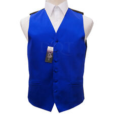 "DQT Men's Plain Satin Finish Formal Groom Wedding Waistcoat - Size 36"" - 50"""