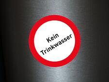 1 x Aufkleber Vosicht Kein Trinkwasser Wasser Gefahr Achtung Gefährlich Sticker