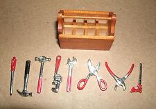 1/18 Scale Diecast Metal Tools with Wood Toolbox - Garage Workshop Diorama Kit