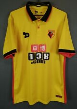 DRYWORLD MENS WATFORD 2016/2017 HORNETS HOME SOCCER FOOTBALL SHIRT JERSEY SIZE M