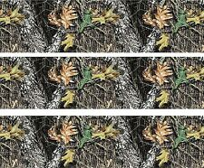 Woodland Camo ~ Edible Cake Image Topper ~ 1/4 Sheet Designer Strips  - D5445