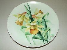 Antique 1890 Hand Painted Flambeau Limoges Artist Signed Porcelain Ceramic Plate