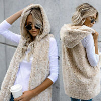 New Hot Women Faux Fur Waistcoat Coat Winter Warm Sleeveless Jacket Vest Outwear