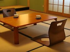 ZAISU Japanese  Legless Chair 1 Leg Brown Tea room Wood Omotenashi Washitsu JP