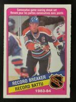 1984 Wayne Gretzky ~ Edmonton Oilers ~ O-PEE-CHEE #388