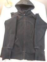 Lululemon Black Scuba Hoodie Zip Up Sweater Jacket Medium with pockets