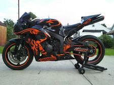 Gloss Black w/ Orange Fairing Injection for 2006-2007 Honda CBR1000RR