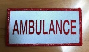 Red/Silver Ambulance Reflective Patch Small