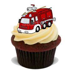 Feuerwehr Auto Mann Eßbar Tortenbild Party Deko Muffinaufleger neu dvd Cupcake