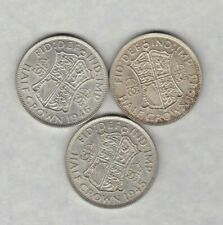 THREE 1943/1945 & 1946 GEORGE VI HALF CROWNS IN NEAR EXTREMELY FINE CONDITION