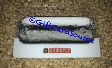 2015 CHIPOTLE CLEAR GIFT CARD BURRITO WRAPPED IN FOIL COLLECTIBLE NEW