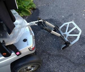 ONE HANDED  Mobility Scooter Tow Bar Hitch Shopping Trolley Cart  Pride GoGo ETC
