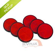 6X Red Reflector Trailer Motorcycle Caravan Marker Self Adhesive Bicycle Parts