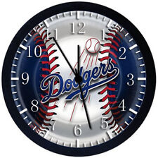 Los Angeles Dodgers Black Frame Wall Clock Nice For Decor or Gifts E85