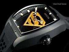 NEW Invicta DC Comics Tonneau SUPERMAN Diablo Blk & Gold AUTOMATIC Silicon Watch