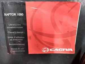 Cagiva Raptor 1000 Owners Manual Handbook Uso e manutenzione Full Wiring diagram