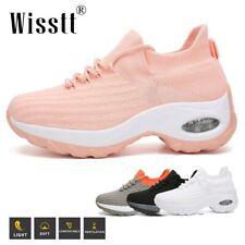 Wisstt Womens Air Cushion Sneakers Breathable Mesh Walking Casual Platform Shoes