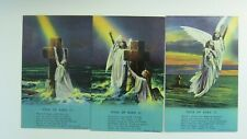 Bamforth Song Postcards 1910's x 3 ROCK OF AGES Angel Theme No 4765/1/2/3
