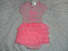 CARTER'S PINK BUNNY TUTU SET OUTFIT JUST FOR YOU GIRL'S SIZE 6 MONTHS NEW