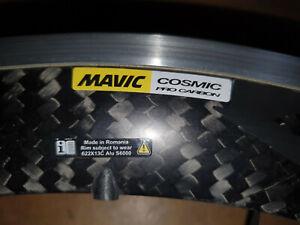 """Mavic Cosmic Pro Carbon Laufräder 28"""" Drahtreifen Clincher"""