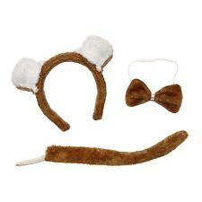 Cute Bear 3-Piece Book Week Fancy Dress Sets (Ears Headband, Tail & Bow Tie)