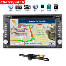 "Double 2Din InDash Deck Car DVD Radio Player 6.2"" GPS Touch Screen BT Stereo+Cam"