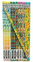 Pack of 12 - Luau Tropical Beach Wooden Pencils with Erasers - Party Fillers