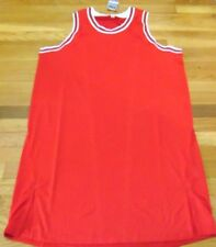 ADIDAS NBA REVOLUTION 30 CHICAGO BULLS RED AUTHENTIC ALL BLANK JERSEY 4XL+4