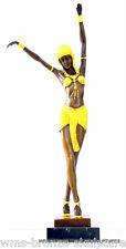 Art Deco Bronzeskulptur signiert Chiparus auf Marmorsockel Bronzefigur Statue