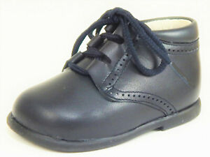 DE OSU - Navy Blue Leather Dress Ghillie Boots - Shoes European Size 19 - 22