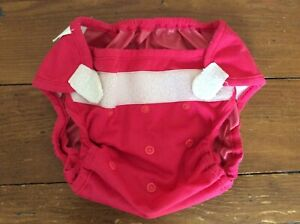 Used Blueberry Diaper Cover Shell Hook and Loop Adjustable Raspberry Pink