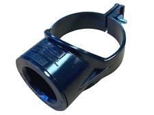 """Black 3"""" 82mm x 40mm 43mm Boss Clip Strap Boss 1 1/2"""" Glued Solvent Adaptor"""