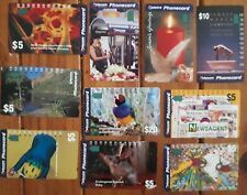 10 Assorted Phonecards - Used Australian Collectables