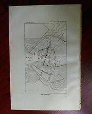 1897 USGS Map Plan of Tonto Dam