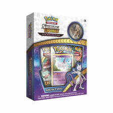 Pokemon Shining Legends Mewtwo Pin Collection Box 3 Booster Packs Promo Card