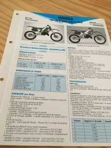 Honda CR125R JE01 N 92 P 93 CR125 R Cr 125 Ficha Técnica Moto a Distancia Stay