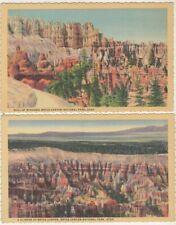 3 Vintage Postcards Bryce Canyon National Park Utah, Wall Of Windows Tower Bridg