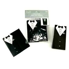 Wedding Favor Gift Boxes Tuxedo Black White Groom 1  Package of 10 + 2 Free = 12