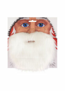 SANTA CLAUS BEARD MOUSTACHE SET FATHER CHRISTMAS COSTUME FANCYDRESS ACCESSORY UK