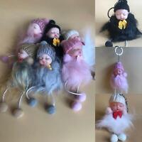 Baby Doll Keychains Sleeping Fur Rabbit Keyrings Decor Fluffy Pom Car Pendant