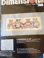 Dimensions A Daughter Is A Joy No Count Cross Stitch Kit Teddy Bears Hallmark