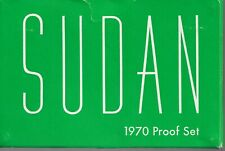 1970 SUDAN PROOF COIN SET 9 COINS IN ORIGINAL PACKAGE
