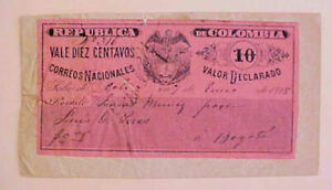 COLOMBIA  HG30 COVER 1898